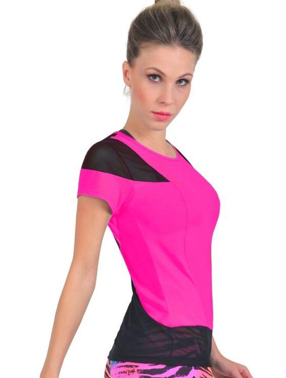 Bia Brazil TT4409 Mesh Hot Pink-Sexy Workout Tops