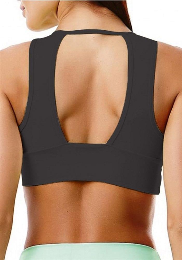 CAJUBRASIL 2945 Sexy Sports Bra Top SU Basic UP Black