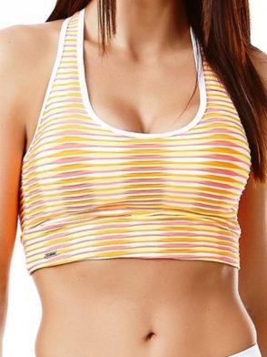 CAJUBRASIL 5655 Sexy Sports Bra Top Fusion Rainbow Stripes