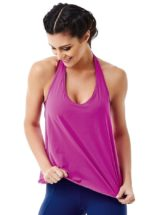CAJUBRASIL 6519 Sexy Yoga Top - Workout Top-Backless Fuchsia