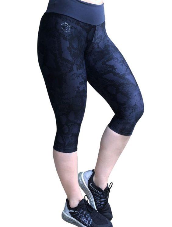 Bia Brazil SL4069 Charcoal Snake-Sexy Capris-Activewear