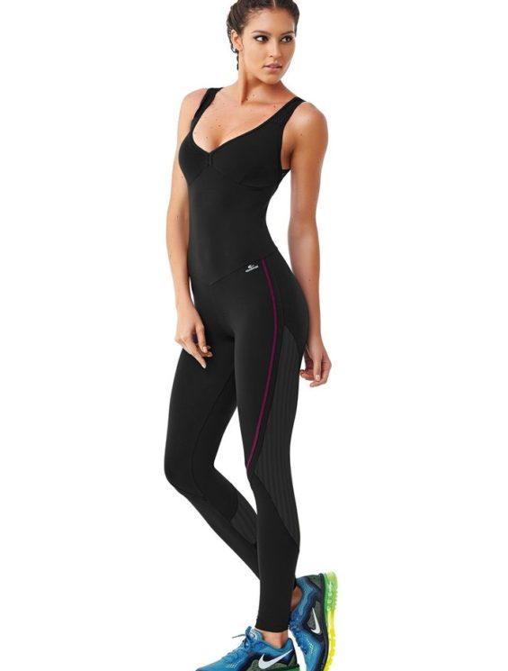 CAJUBRASIL 6279 Sexy Workout One-Piece Bodysuit Force Black