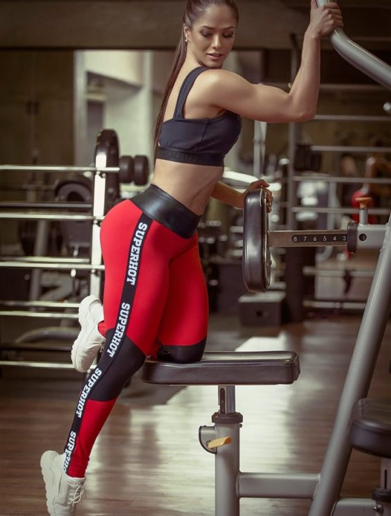 SUPERHOT Sexy Workout Leggings Outfit Yoga Sets CAL672-TOP563