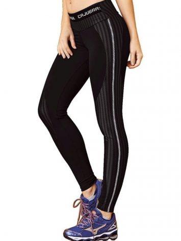CAJUBRASIL 7555 Sexy Leggings Brazilian Aqua Elastic Black