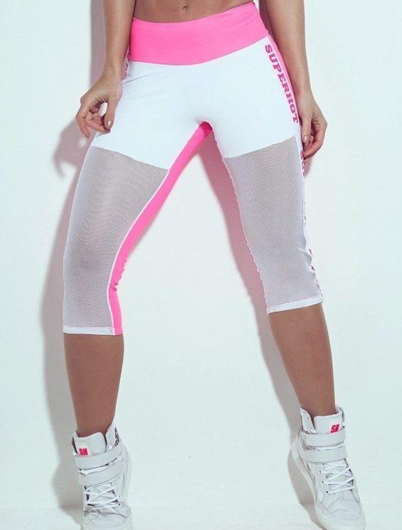 SUPERHOT CAL710 Sexy Leggings Pink with Mesh