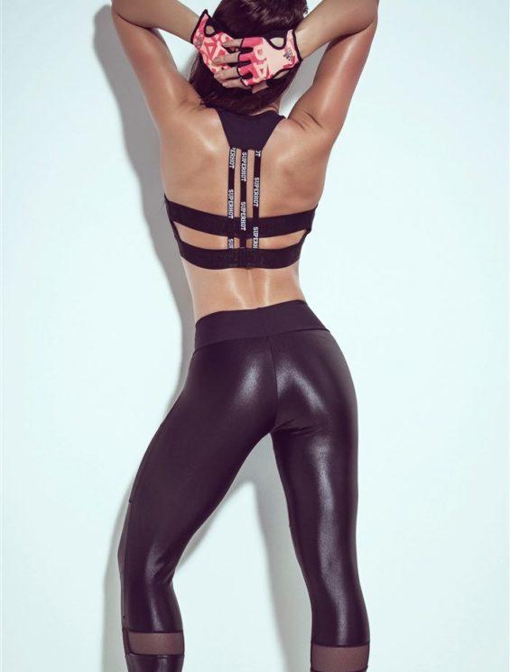 SUPERHOT  Sexy Workout Leggings Outfit Yoga Pants CAL714-TOP692