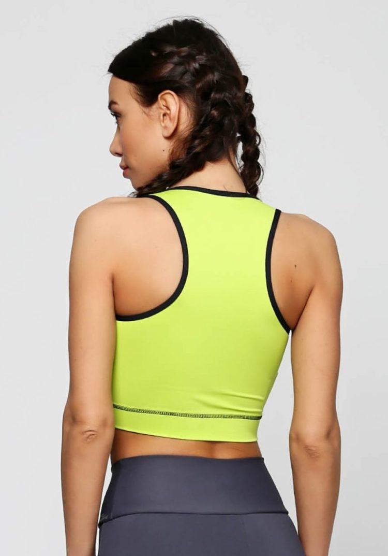 CAJUBRASIL 6265 Sexy Yoga Top - Crop Top Active Lime Green