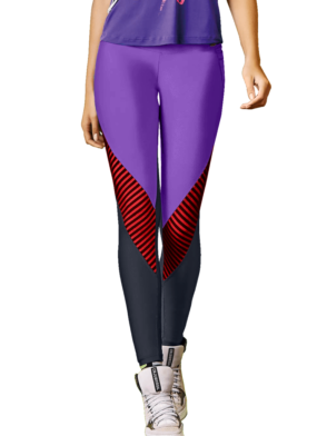 CAJUBRASIL 7571 Sexy Leggings Brazilian Elegant Purple