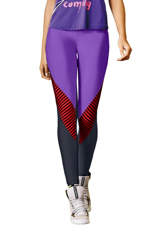 CAJUBRASIL 7571 Sexy Leggings Brazilian Elegant Purple