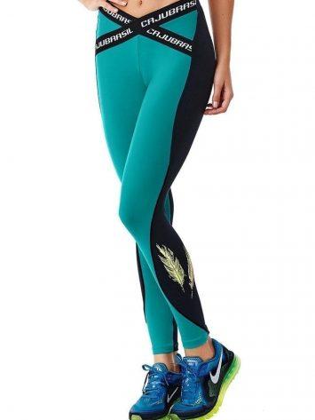 CAJUBRASIL 6252 Sexy Leggings Brazilian Elastic Teal