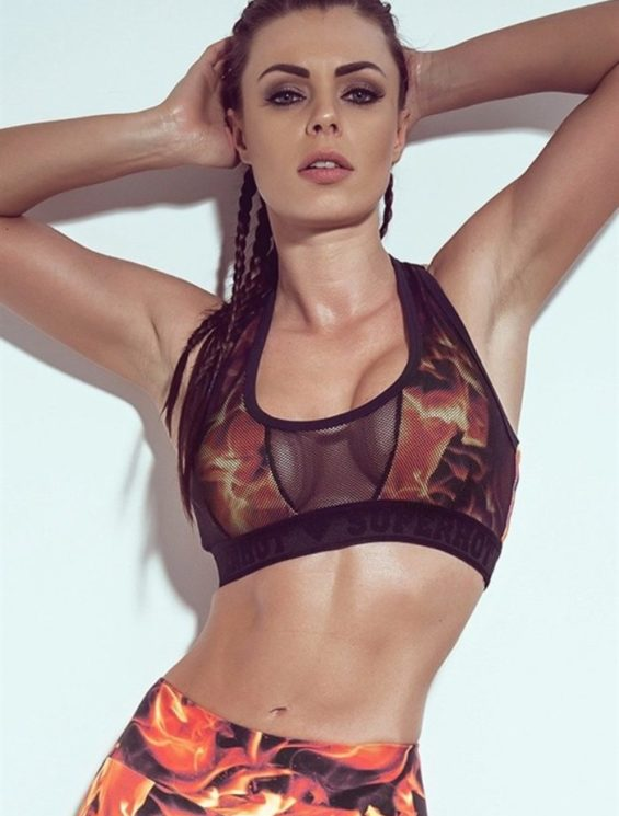 SUPERHOT Sexy Workout Outfits, Cute 2-piece Sets CAL753-TOP749