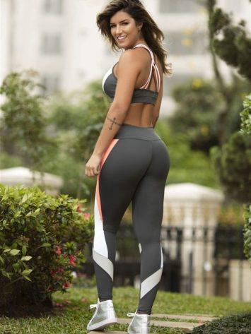OXYFIT Leggings and Bra Top Colors Charcoal- Sexy Yoga Set