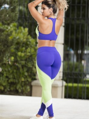 OXYFIT Leggings and Bra Top TURN-UP Purple Sexy Yoga Set