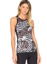 ALALA Tank Tops Racer Tank in Bronze Stripe Sexy Workout Tops