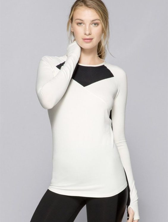 ALALA Tops Run Crew Long Sleeve WH Sexy Workout Tops
