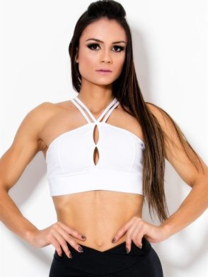 CANOAN  Sports Bra TOP 70011 White Sexy Workout Tops