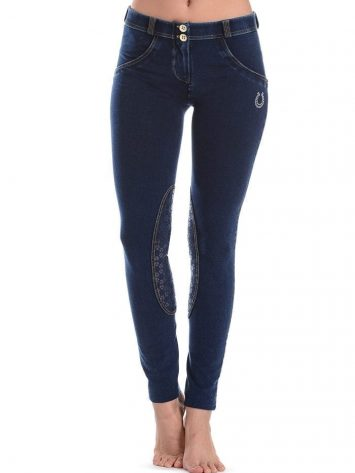 FREDDY WR.UP Shaping Effect -SWAROWSKI Crystals- Low Waist - Skinny - Denim Effect Dark Wash