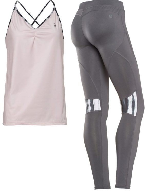 FREDDY WR.UP SHAPING EFFECT – LOW WAIST – SKINNY – D.I.W.O. TECHNICAL FABRIC – INSERT BEHIND KNEE WITH ALL-OVER PRINT + TANK TOP GIFT