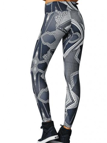 CAJUBRASIL 7904 Sexy Leggings Brazilian Abstract Print