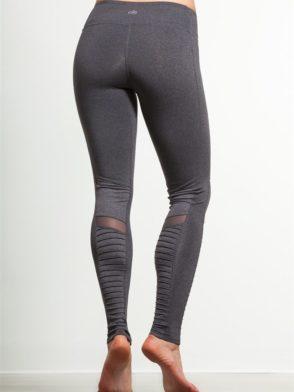 ALO Yoga Sexy Moto Yoga Leggings Sexy Pilates Leggings Heather