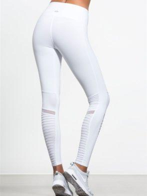 ALO Yoga Sexy Moto Yoga Leggings Sexy Pilates Leggings White
