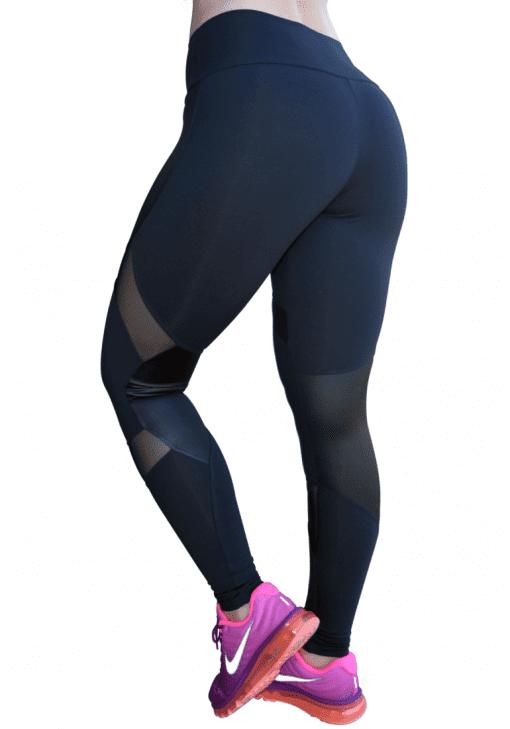 OXYFIT Leggings 14441 Soft BK- Sexy Workout Leggings Cutout Mesh Panels