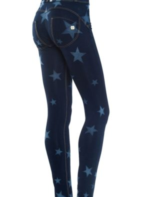 FREDDY WR.UP Shaping Effect – Reg Waist – Skinny – BLUE Denim  Knockout Star Effect Dark Wash