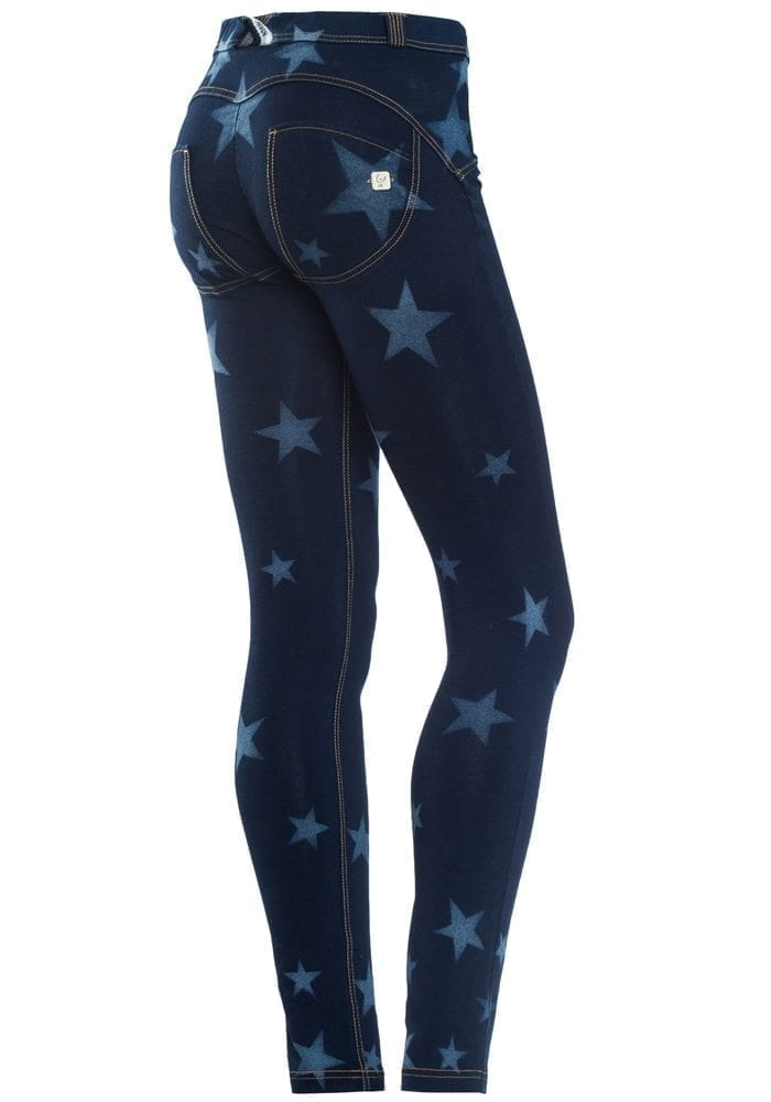 FREDDY WR.UP Shaping Effect - Reg Waist - Skinny - BLUE Denim  Knockout Star Effect Dark Wash