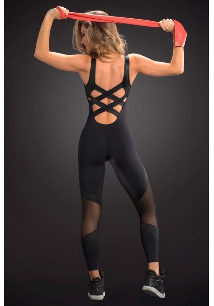 OXYFIT Jumpsuit Way 15192 BK - Sexy Rompers, Cute Workout 1-Piece