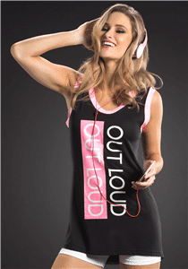 """OXYFIT Tank Top """"Out Loud"""" 46332- Sexy Sports Tops"""