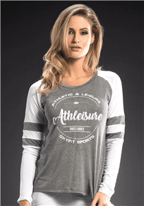 OXYFIT Long Sleeve Blusa Athleisure 46334 Gray- Sexy Sports Tops