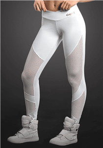 OXYFIT Leggings Looped 64053 WH- Sexy Workout Leggings-**FINAL SALE**