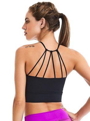 CAJUBRASIL Crop Top 9015 Black – Sexy Yoga Top