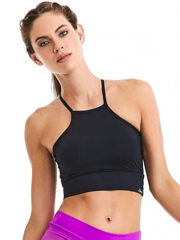 CAJUBRASIL Crop Top 9015 Black - Sexy Yoga Top