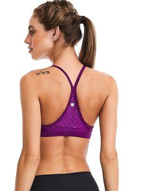 CAJUBRASIL Sports Bra 9018 Plum Sexy Bra Top Yoga Pilates Bra