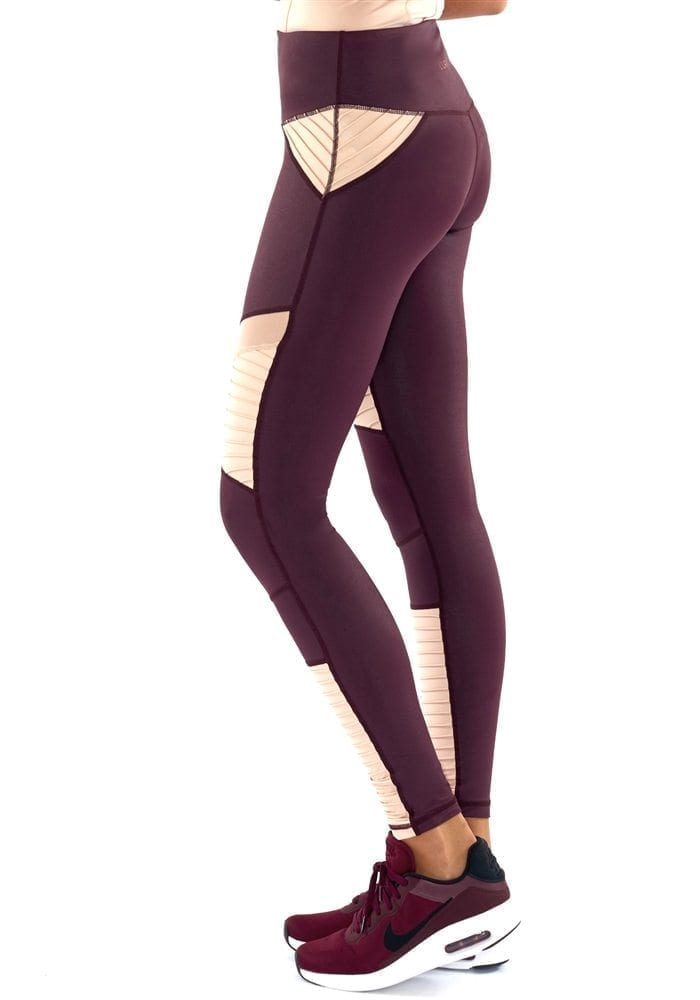 L'URV Leggings She Shimmers Leggings Raisin Sexy Workout Tights