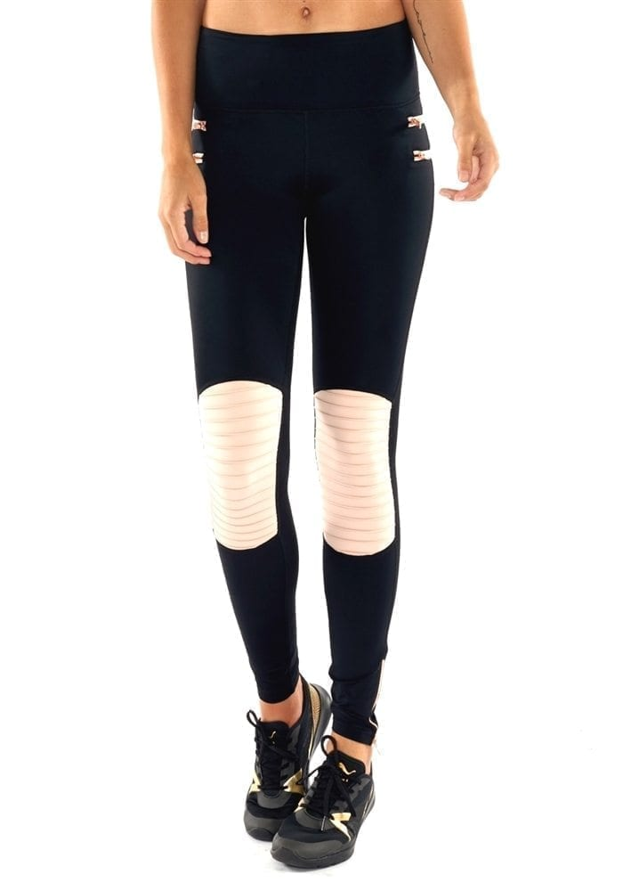 L'URV Leggings Wild and Wanted Moto Leggings Black Sexy Workout Tights
