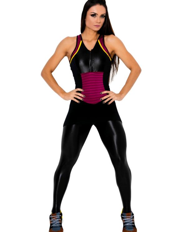 CANOAN Jumpsuit 26917 Black Burgundy Sexy One-Piece Romper-bestfitbybrazil