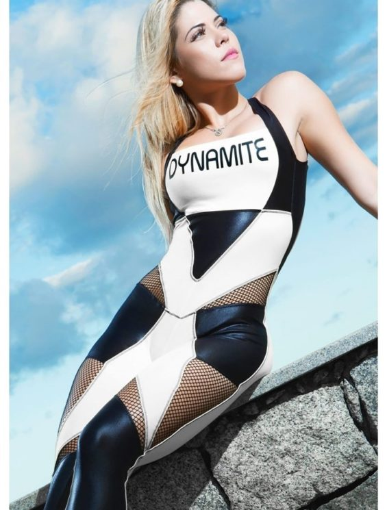 DYNAMITE Jumpsuit ML2012-4 White Night and Day-Sexy One-Piece Romper-Sexy One-Piece Romper