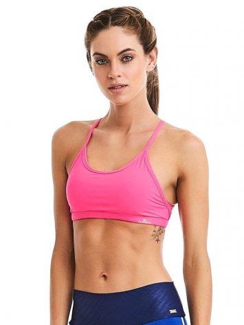CAJUBRASIL Sports Bra 9058 Macrame Pink Sexy Bra Top Yoga Bra