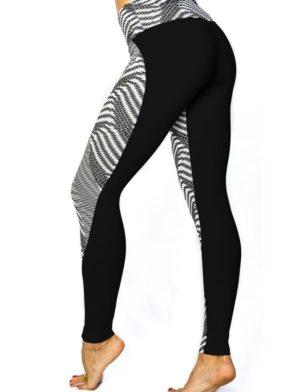 CAJUBRASIL leggings 7530 Sexy Leggings Brazilian Bicolor Pattern