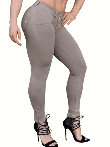 FREDDY WR.UP Shaping Effect - Low Waist - 7/8 Skinny Pants- Beige