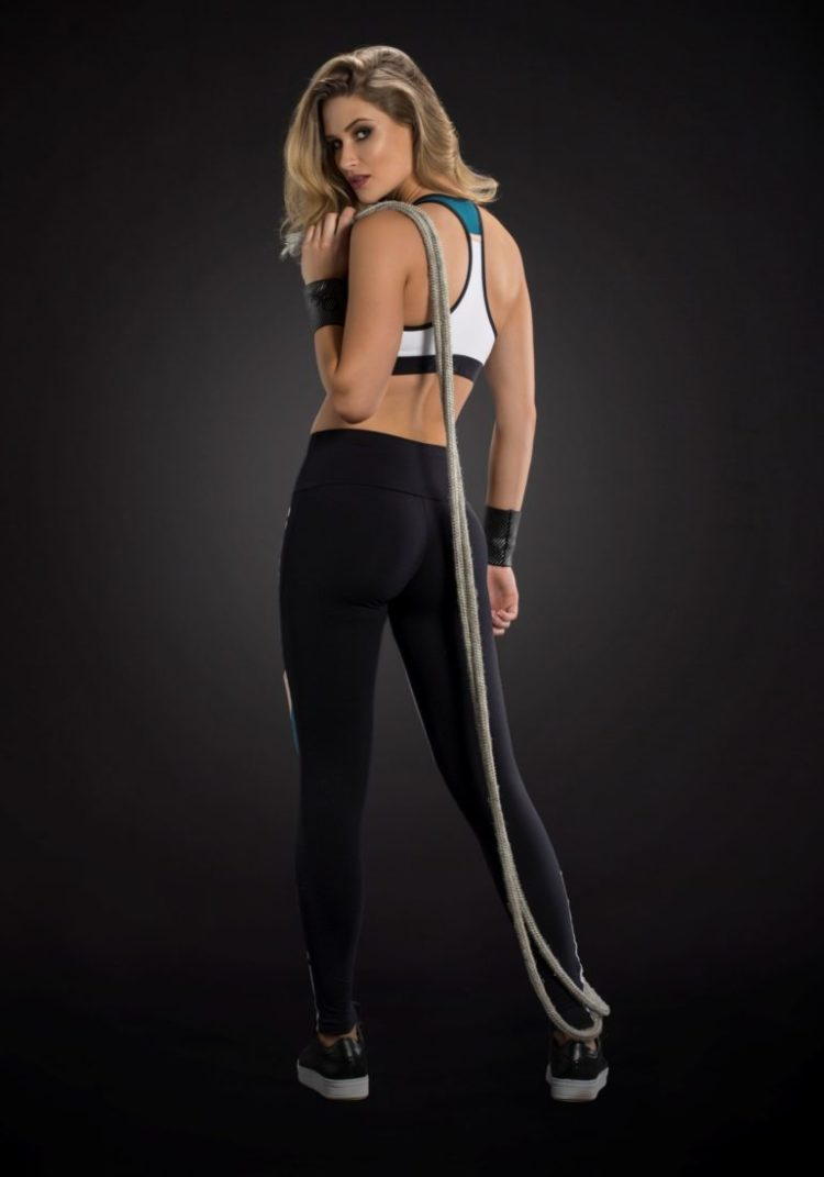 OXYFIT Leggings and Bra Top ALLEY- Sexy Workout Yoga Set Teal