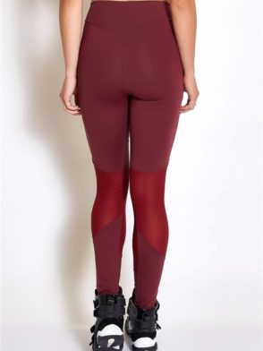 COLCCI FITNESS Leggings 25700231 Sexy Mesh Design Burgundy