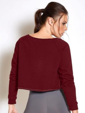 COLCCI FITNESS Sweat-Shirt 405700032 Long Sleeve Crop Burgundy