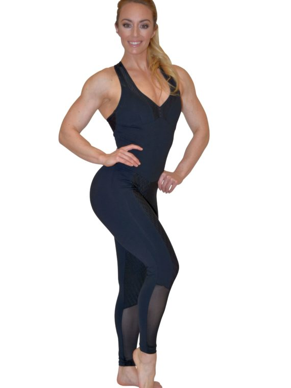 CAJUBRASIL 5683 Sexy Workout One-Piece Bodysuit Salt