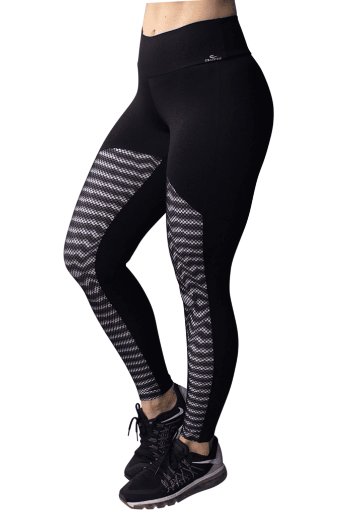 CAJUBRASIL 6244 Sexy Leggings Brazilian Illusion Black