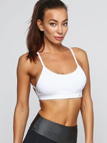 CAJUBRASIL Sports Bra 9058 Macrame WH Sexy Bra Top Yoga Bra