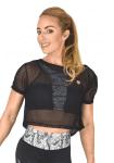 COLCCI FITNESS Net Top 365700128 Crop Cover-up Black
