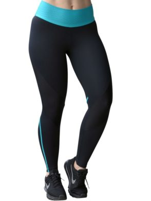 CAJUBRASIL Leggings 8137 Black Teal – Sexy Yoga Leggings Brazilian